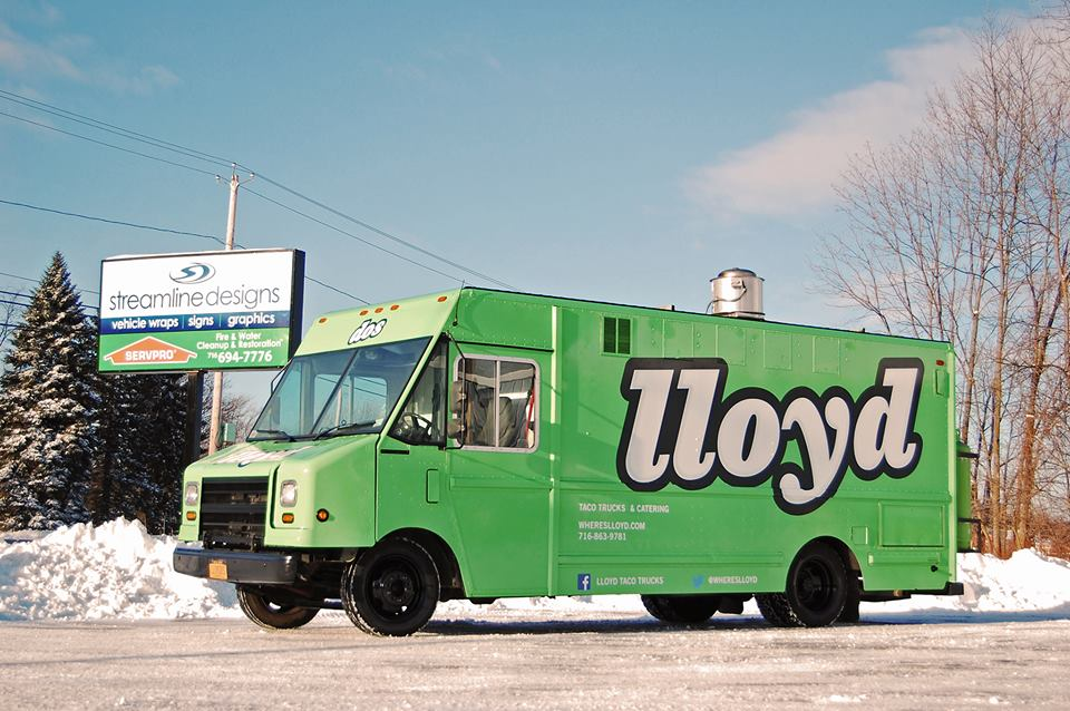 Lloyd food truck wrap