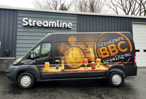 Brickyard Brewing Co. van wrap