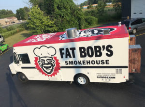 Fat Bob's food truck wrap
