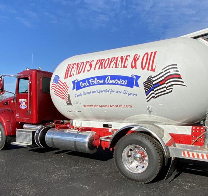 Wendt's Propane truck graphics