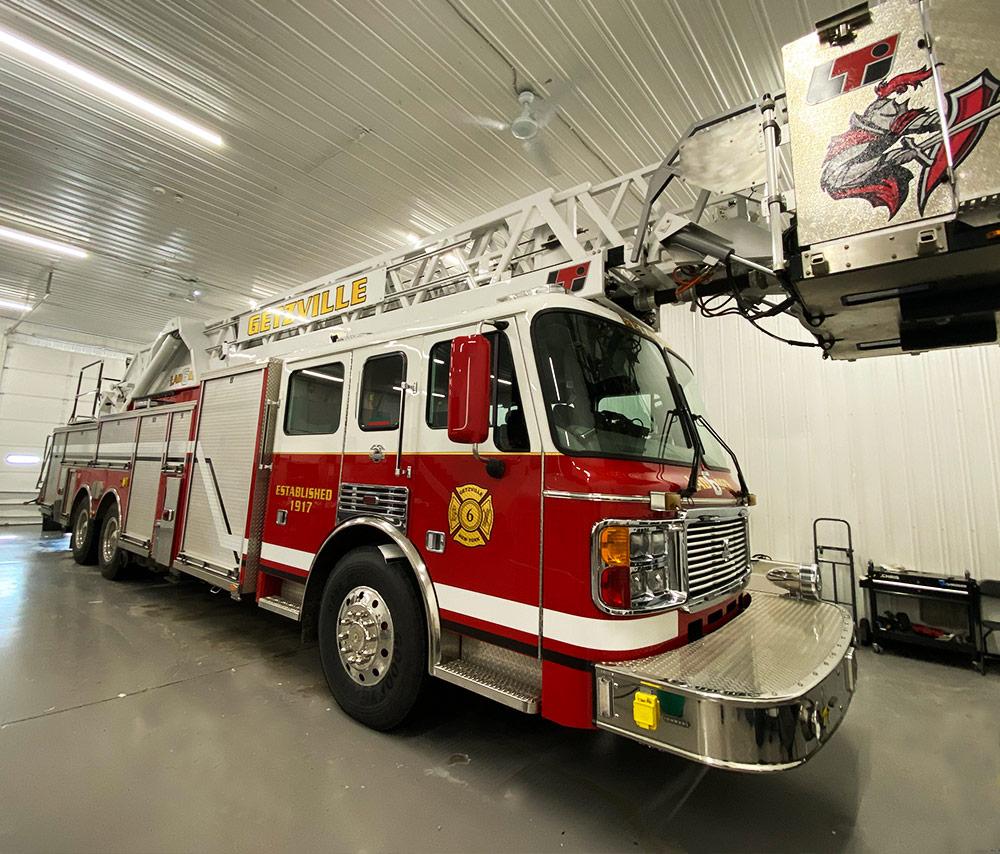 Getzville Fire Ladder 6 reflective graphic kit