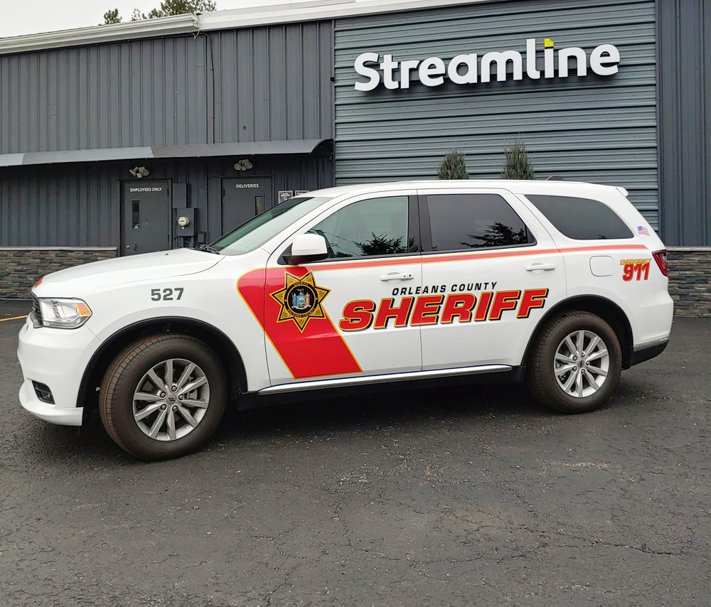 Orleans County Sheriff reflective graphics
