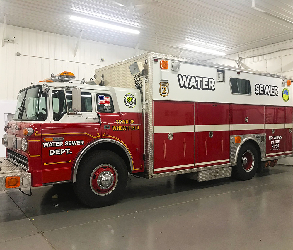 Town of Wheatfield Water/Sewer firetruck graphics